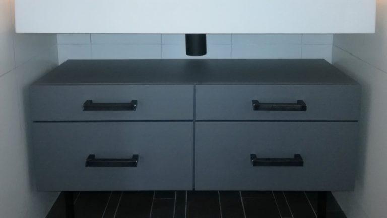 meubel wrap badkamer grijs / matzwart