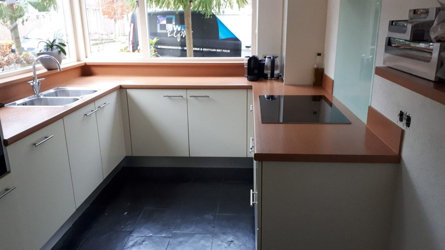 keukenwrap matwit - betonlook folie 1