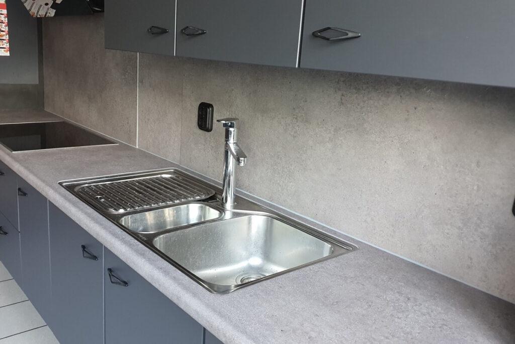 Keukenwrap antraciet - betonlook middel 5