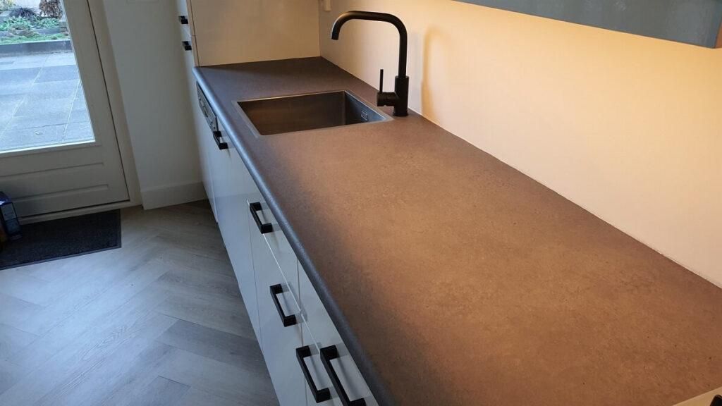 Keukenwrap hoogglans wit - beton 4