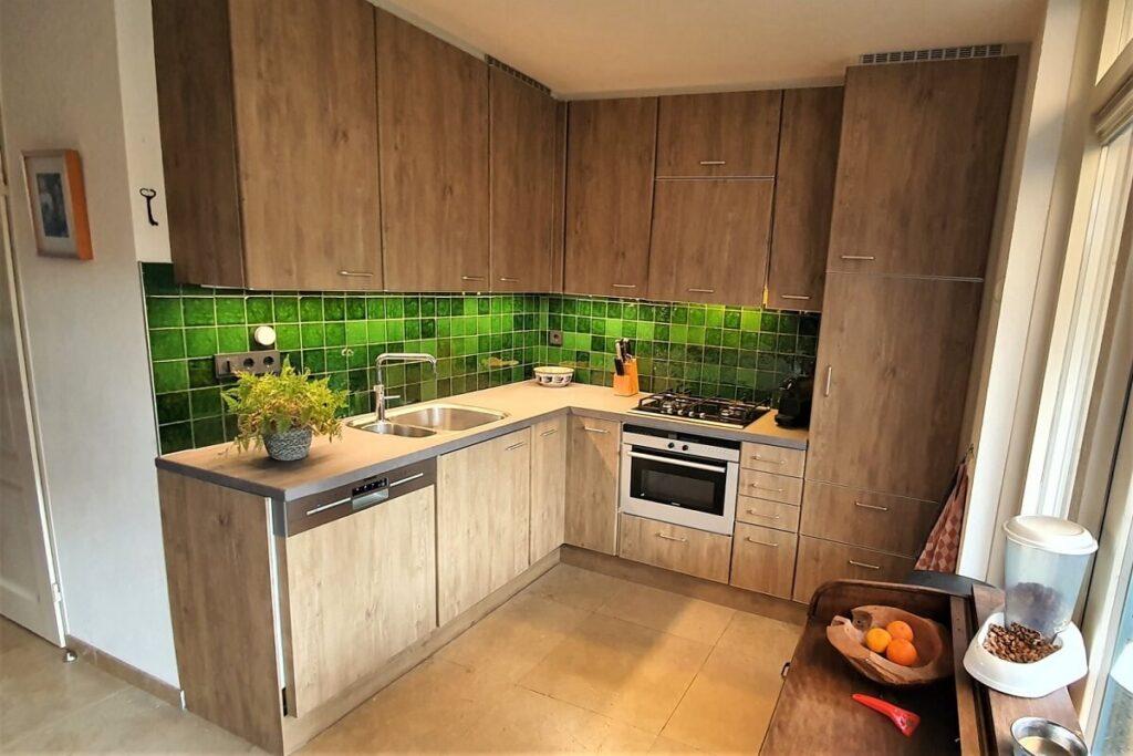 Keukenwrap licht eiken - betonlook donker 2
