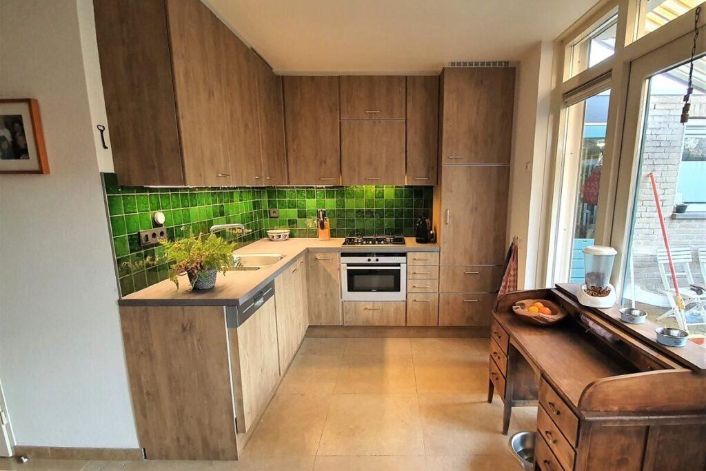Keukenwrap licht eiken - betonlook donker 4