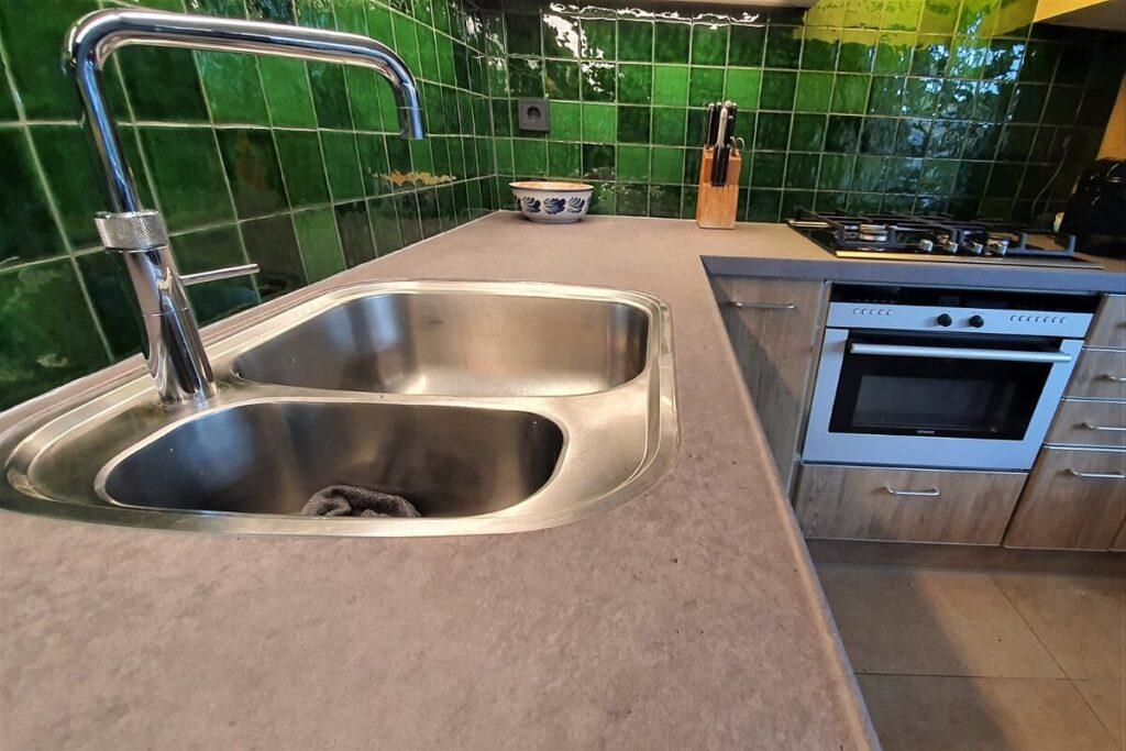 Keukenwrap licht eiken - betonlook donker 7