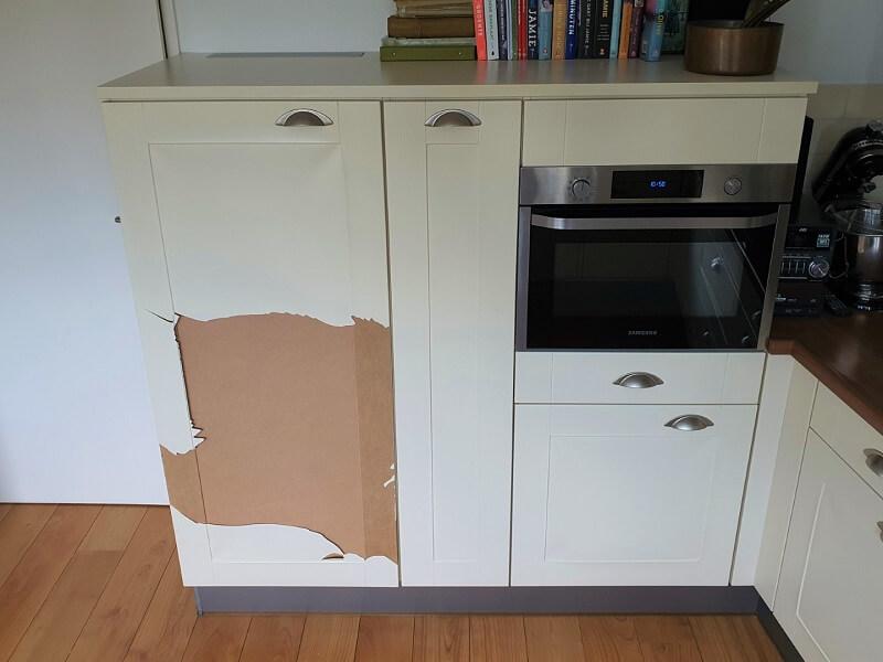 Loslatende folie keuken 1